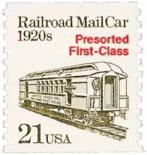 Railroad Mail Car Stamp