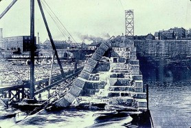 Construction of the third and current dam began in 1895, with the final stone laid on January 5, 1900.