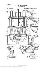 the drawing that accompanied John McCormick's patent application.