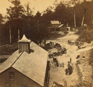 Halfway House in 1885. Photo by New York Public Library. This was a staging area for people and supplies and the lower terminus of the incline railway.