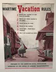 Spend your vacation close to home - Spend your whole vacation in one place - Travel during the week - Travel on day coaches - travel light, check heavy baggage - Don't visit crowded war areas.