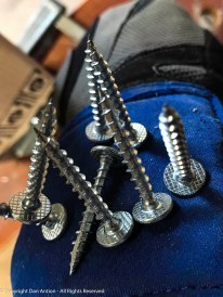 The screws will be readily available when I'm working in the ceiling space.