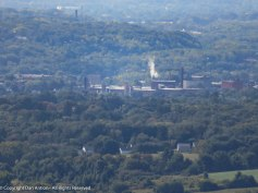 A view into Holyoke from the summit.