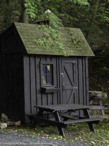 This small shed is at the halfway location on Mt Holyoke.