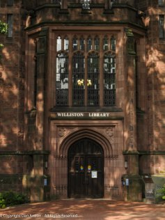 Williston Library. Isn't that a magnificent entrance?