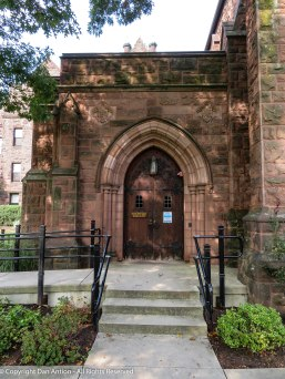 Side entrance to the chapel.