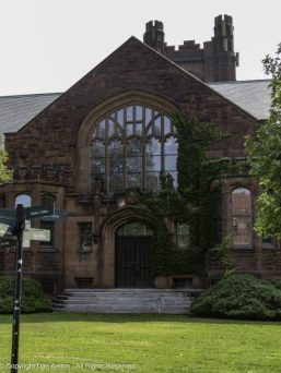 I didn't catch the name, but that's a beautiful entrance. Also at Mount Holyoke College.