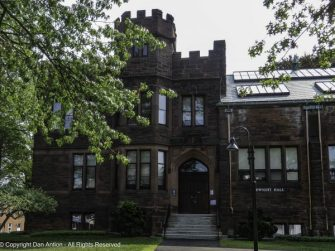 Dwight Hall, Mount Holyoke College. Dwight Hall houses the academic centers, some interdisciplinary program offices, and the College's Archives and Special Collections.
