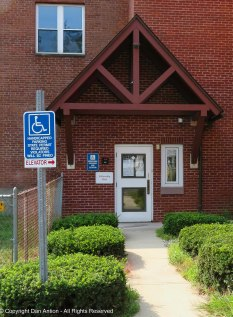Handicapped entrance to the church.
