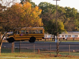 They stage the school buses in the park. Either that or John Howell is going to tour the neighborhood.