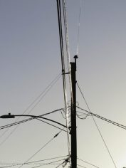 I like the way the low sun hits those wires.