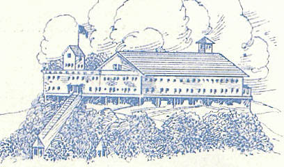 Drawing from a brochure distributed in the 1930s. Not the covered tracks of the incline railway.