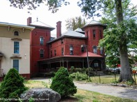 847 Asylum Avenue - the red brick Italianate with two towers.