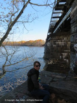 Faith and I always stop at the trestle.