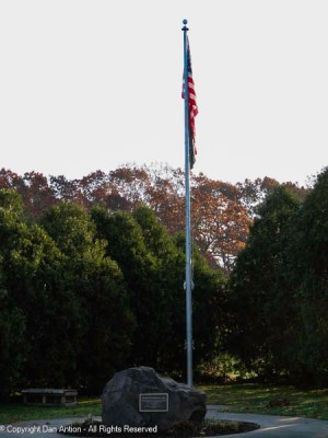 Veterans Memorial in Veterans memorial Park.