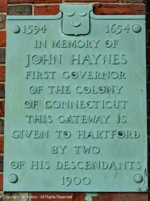 Plaque on the side of the entrance to the Ancient Burial Grounds.
