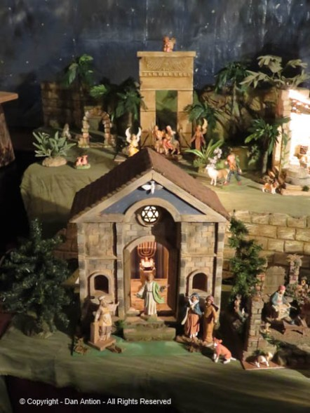 The miniature buildings in the giant nativity display were so wonderfully detailed,