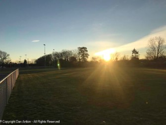 Sunrise in the park.