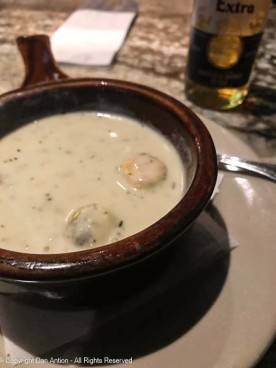 The chowder at the bar is the best.