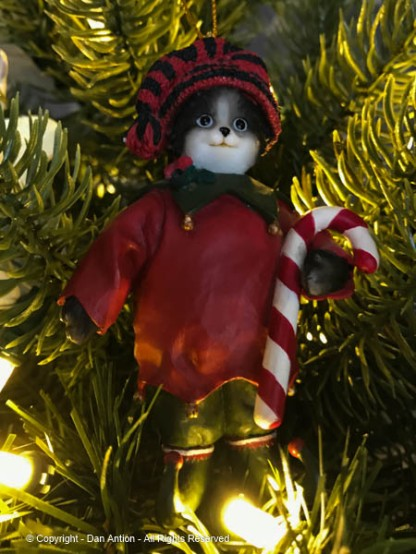Mom cat. This ornament represents the Editor. I think it's how the cats see her.