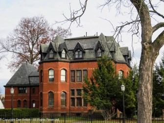 I love those dormers! Three dormers on a turret is amazing.