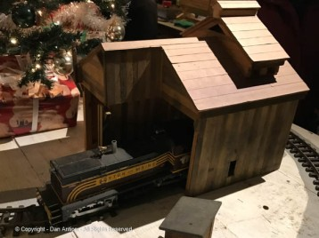 Christmas by Candlelight always (normally) features a model railroad display.