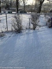 We had a couple inches of snow overnight into Monday.