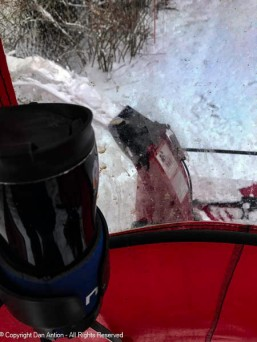 A few inches of snow mixed with freezing rain required the snowblower.