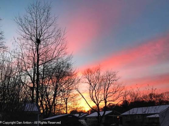 """""""Red sky at morning, sailors warning"""""""