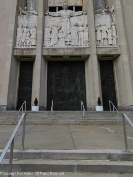 Main entrance, St. Joseph's Cathedral.