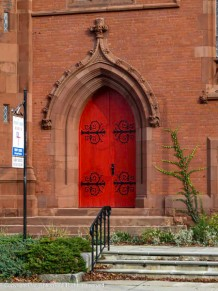 Side door of Trinity Church.