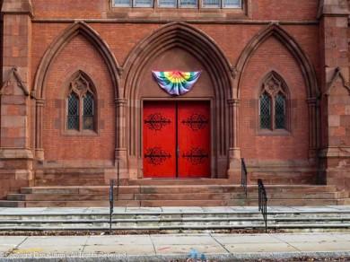 Front door to Trinity Church.
