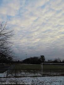 Puffy skies.