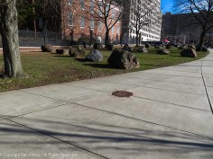 """This is """"Stone Field"""" a 1977 sculpture project that the City of Hartford paid $100,000 for. Yeah, it's a bunch of rocks."""