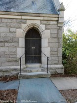 Side door to the small chapel.