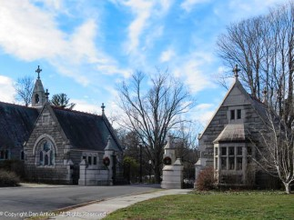Gallup Memorial Gateway was constructed in 1888 The Gateway's architecture complements that of the chapel and a low granite wall connects the two structures