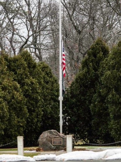 At half staff since the events in Washington, DC last week.