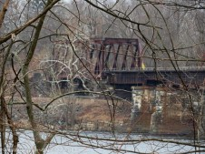 In a few months I won't be able to see this bridge, That's the extension of the railroad bridge that crosses the Windsor Locks Canal.