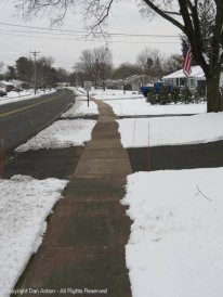 Some neighbors play by the rules and get their sidewalks ready for walkers.