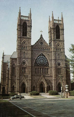 Historic photo - The original St. Joseph's Cathedral.