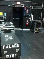 Everything back stage is painted black to avoid stray light sources from interrupting a performance.