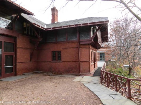 These two buildings are part of the Mark Twain House complex.