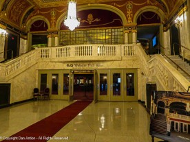 The main lobby today. Behind those doors is the orchestra lobby.