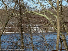 This part of the trestle crosses the Windsor Locks Canal.