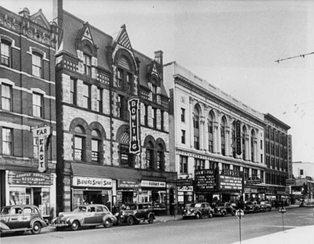 From the NRHB nomination form. Downtown Waterbury, CT in 1941.