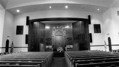 Historic photo, interior of Beth El Synagogue
