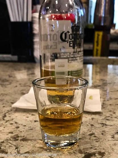 A sample of Skrewball Peanut Butter Flavored Whiskey