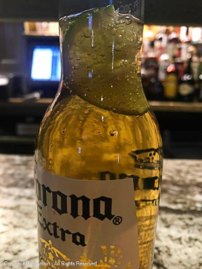 Corona and lime - great combination.