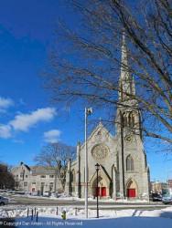 St. John's Episcopal Church as seen from the downtown green.