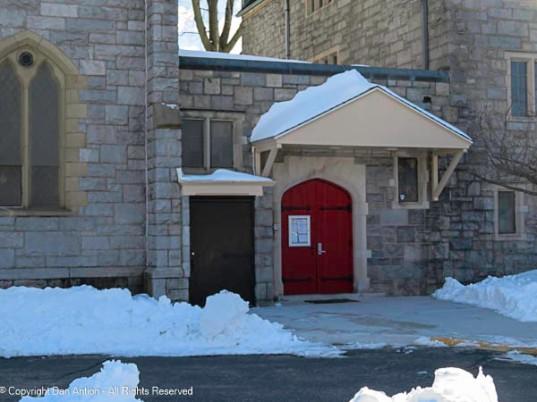 Back entrance to St. John's Episcopal Church
